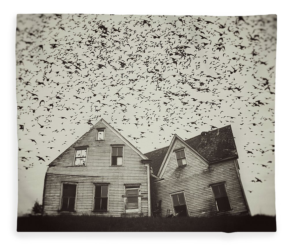 Spooky Fleece Blanket featuring the photograph Home Of Murmuration by Shaunl