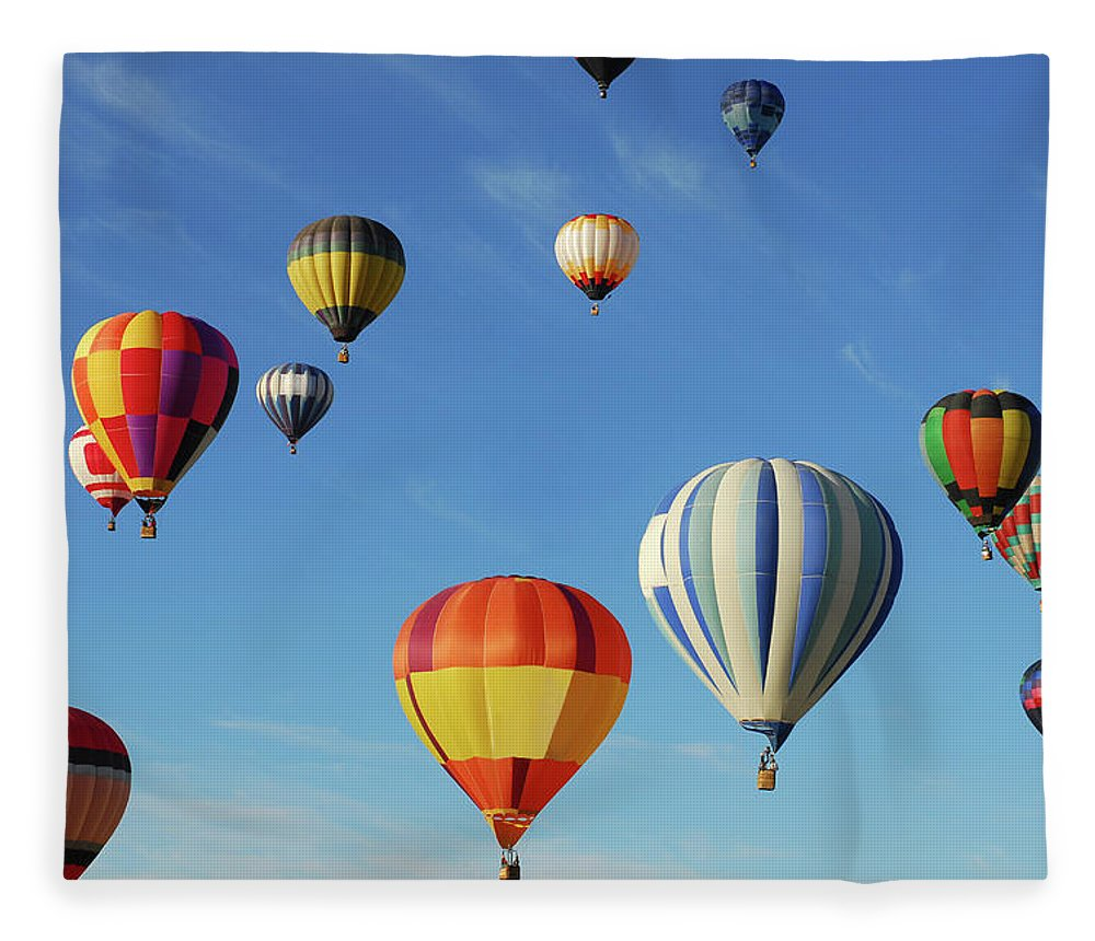 New Mexico Fleece Blanket featuring the photograph Hot Air Balloons by Sjlayne