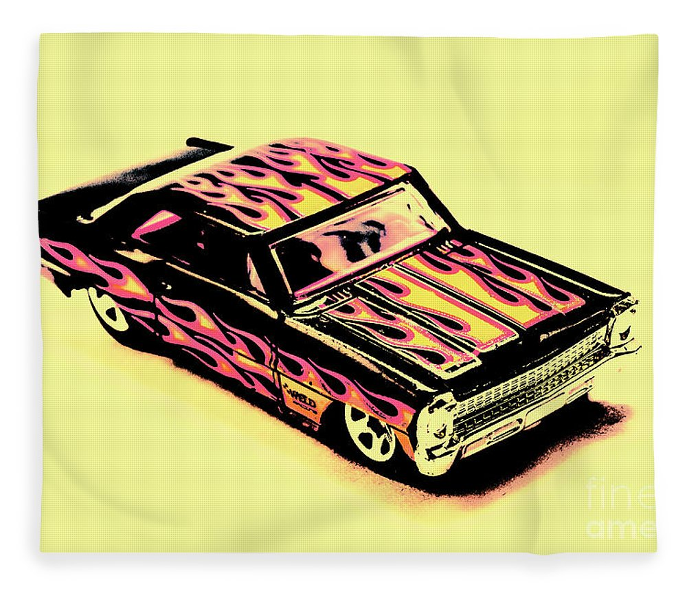 Classic Fleece Blanket featuring the photograph Hot Wheels by Jorgo Photography - Wall Art Gallery