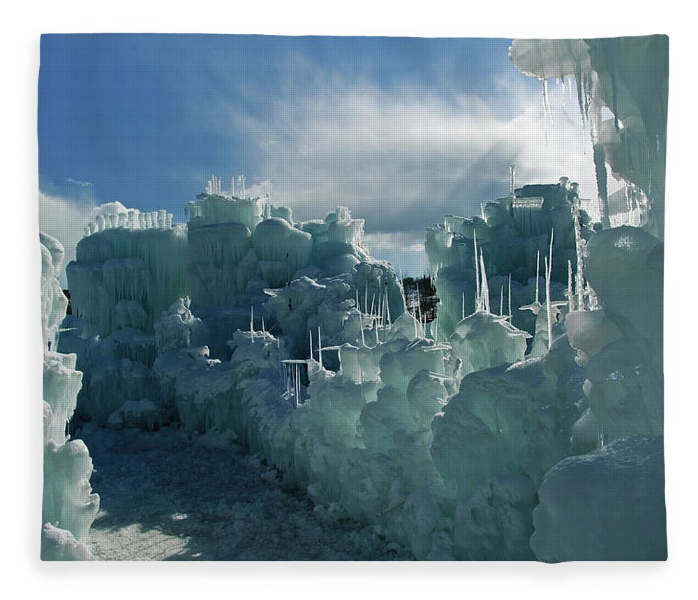 Iceberg Fleece Blanket featuring the photograph Ice Castle by Robin Wilson Photography