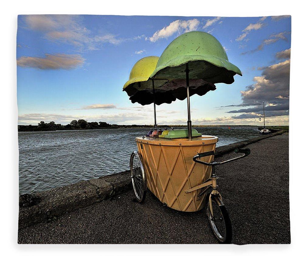 Retail Fleece Blanket featuring the photograph Ice Cream by Hans Joachim Breuer