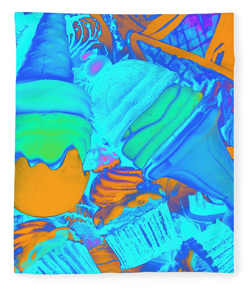 Abstract Fleece Blanket featuring the photograph Ice Cream Pops by Jorgo Photography - Wall Art Gallery