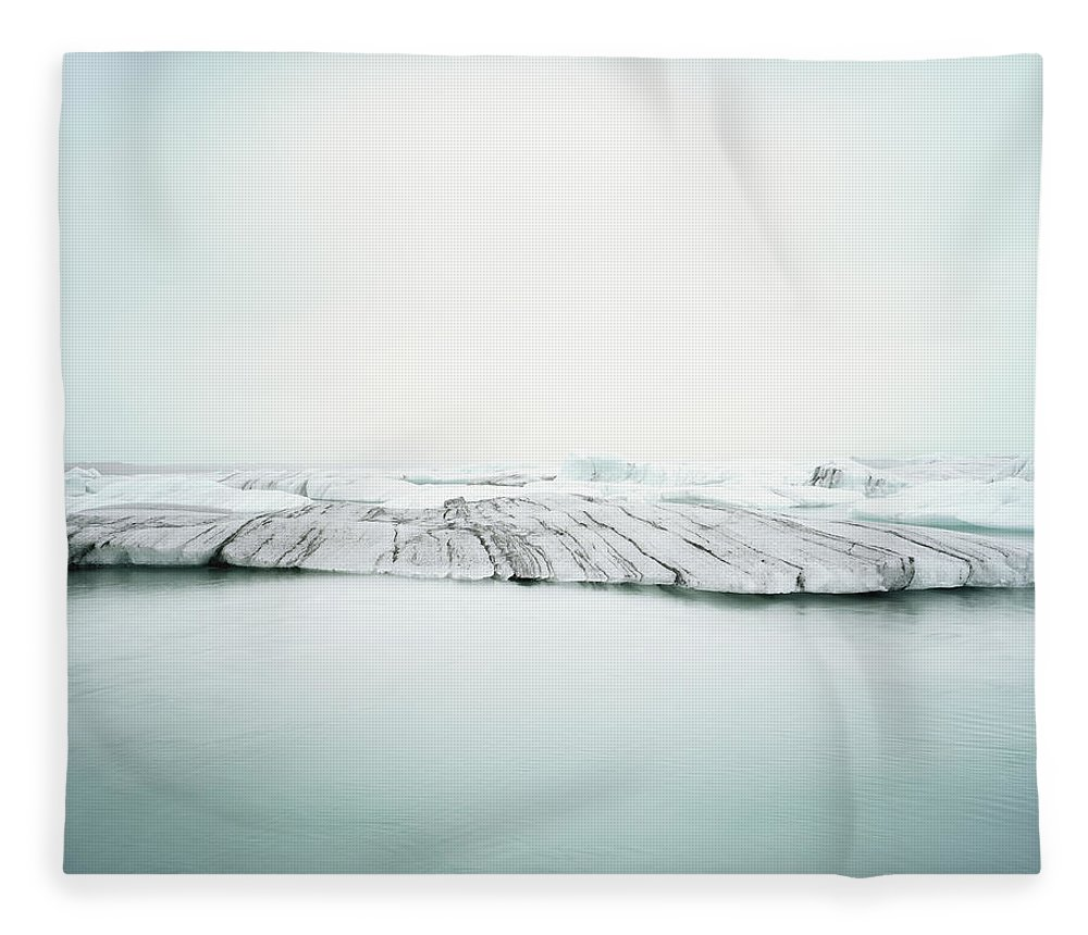 Scenics Fleece Blanket featuring the photograph Ice Melt In Jökulsárlón, Iceland by Michael Hall