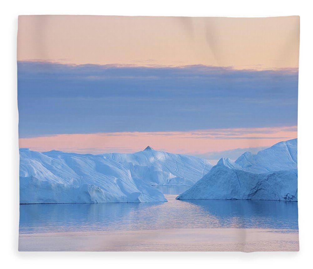 Iceberg Fleece Blanket featuring the photograph Iceberg by Raimund Linke