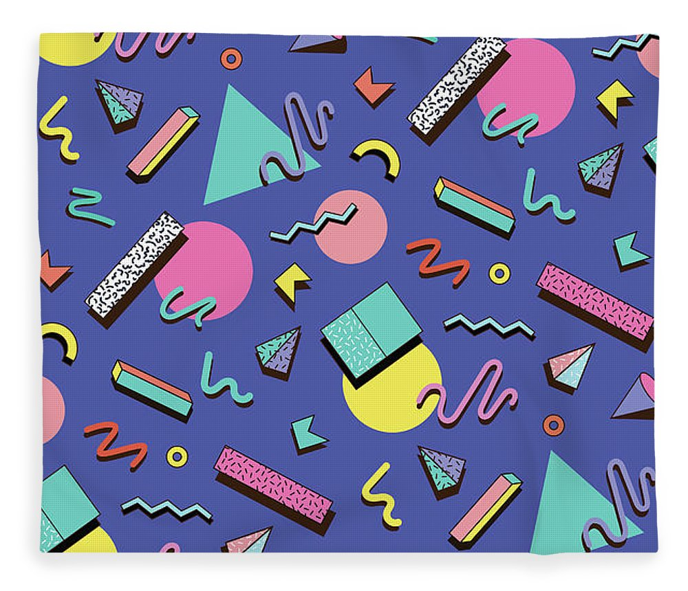 Cool Attitude Fleece Blanket featuring the digital art Illustration For Hipsters Style by Fighter francevna