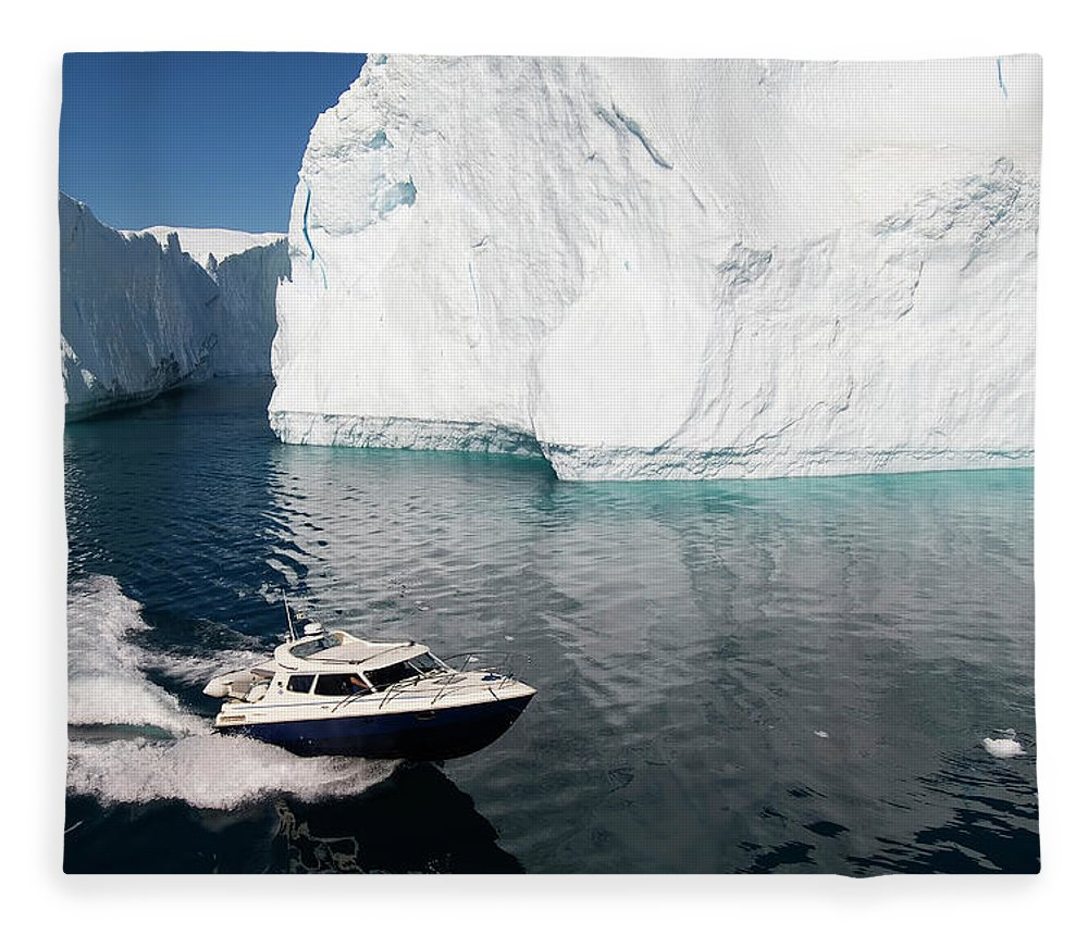 Scenics Fleece Blanket featuring the photograph Ilulissat, Disko Bay by Gabrielle Therin-weise