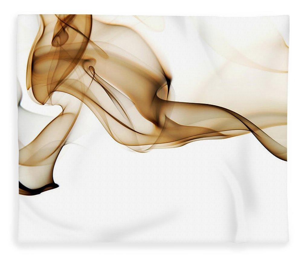 Art Fleece Blanket featuring the photograph Image Of High Contrast Smoke Up Against by Guarosh