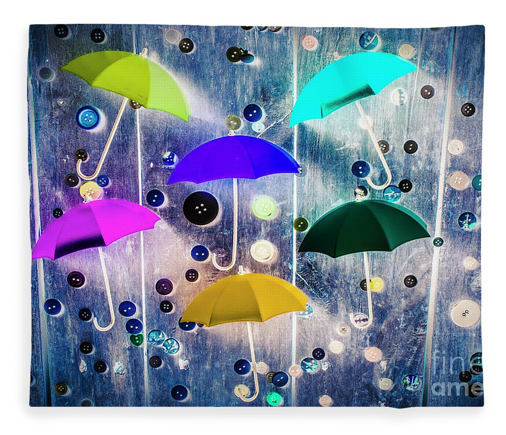 Artwork Fleece Blanket featuring the photograph Imagination Raining Wild by Jorgo Photography - Wall Art Gallery