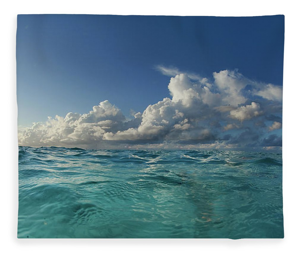 Tranquility Fleece Blanket featuring the photograph Indian Ocean by Nature, Underwater And Art Photos. Www.narchuk.com