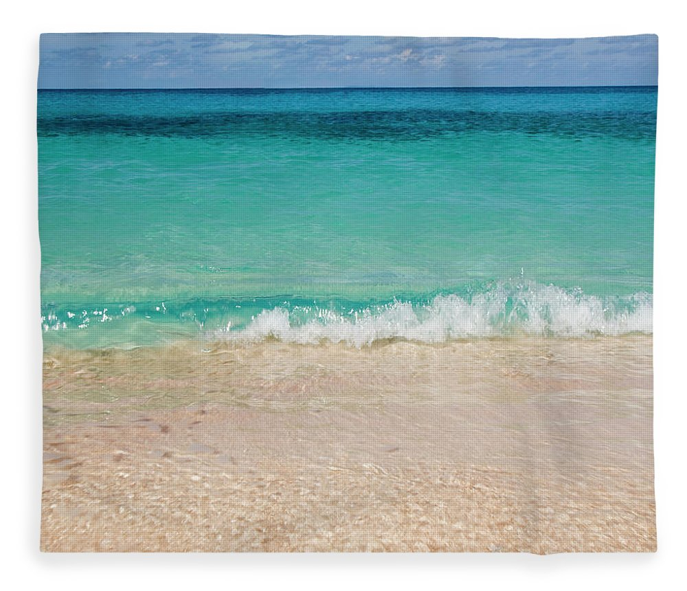 Water's Edge Fleece Blanket featuring the photograph Indonesia, Waves Rolling In From Indian by Joe Mcbride