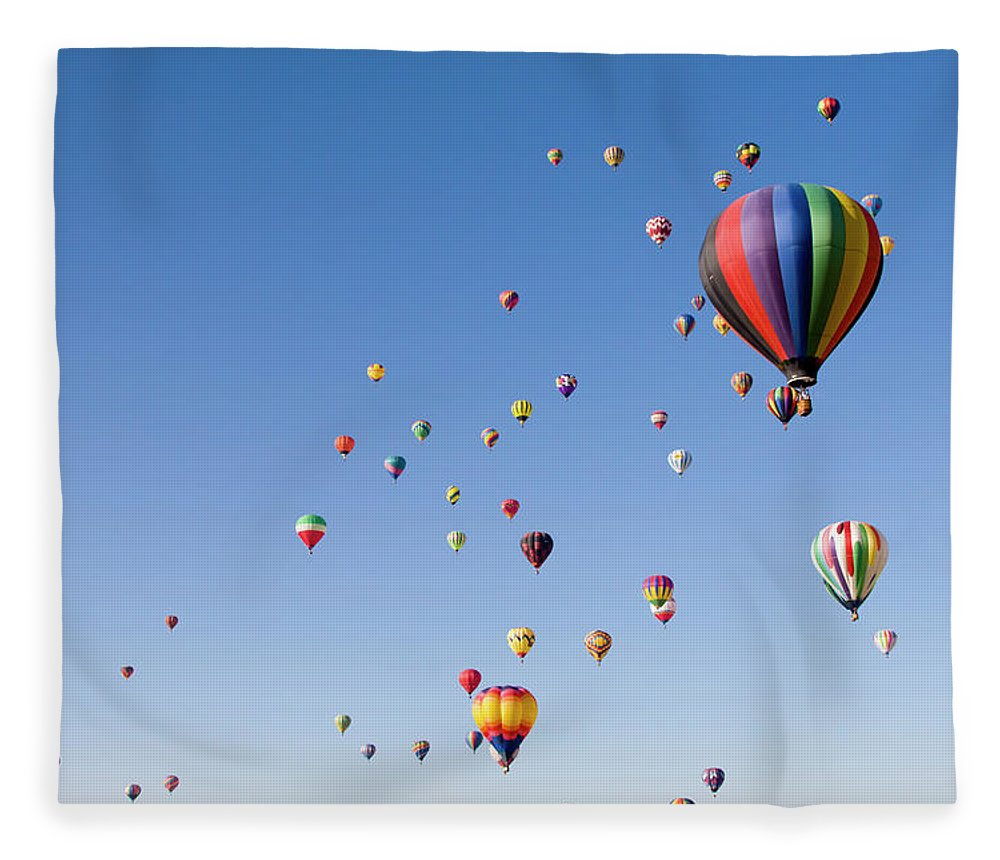 Event Fleece Blanket featuring the photograph International Balloon Fiesta by Prmoeller