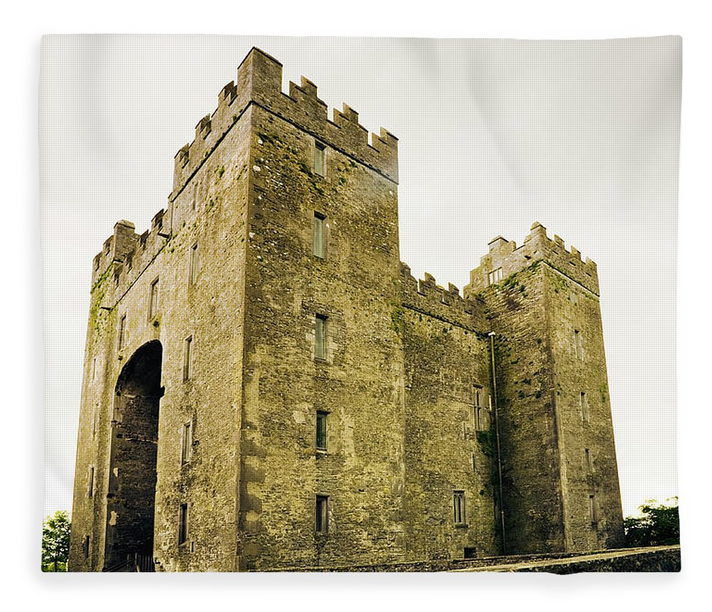 Bunratty Castle Fleece Blanket featuring the photograph Ireland Bunratty Castle In County by Alantobey