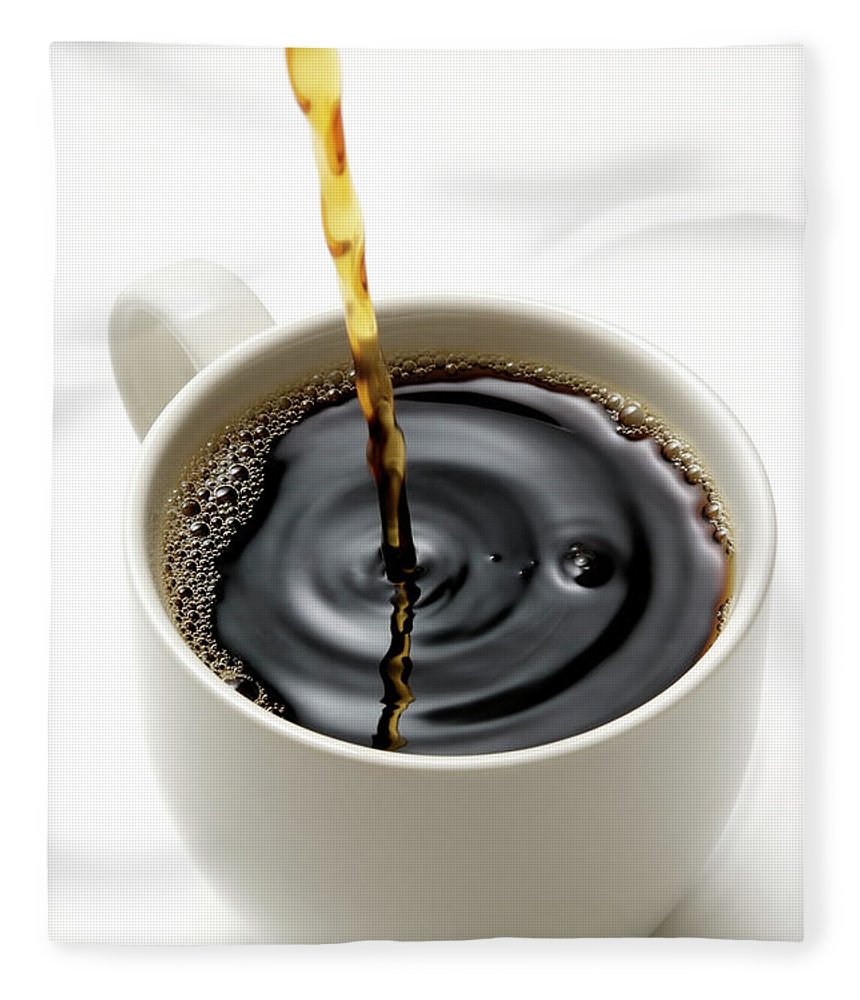Breakfast Fleece Blanket featuring the photograph Isolated Shot Of Pouring A Fresh Coffee by Kyoshino