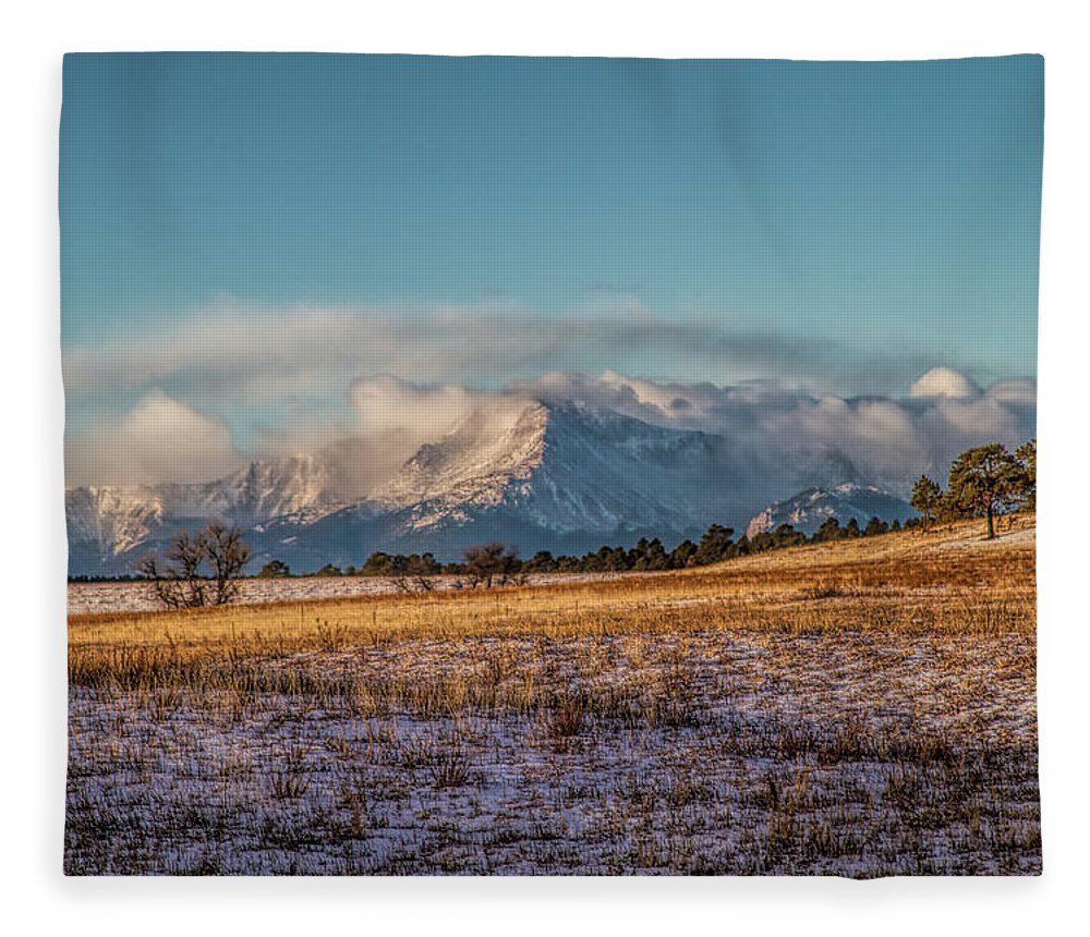 Pikes Peak Fleece Blanket featuring the photograph It Begins by Alana Thrower