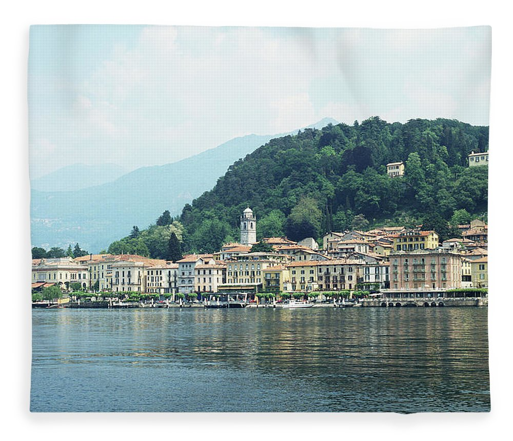 Outdoors Fleece Blanket featuring the photograph Italy, Lombardy, Bellagio On Lake Como by Andy Sotiriou