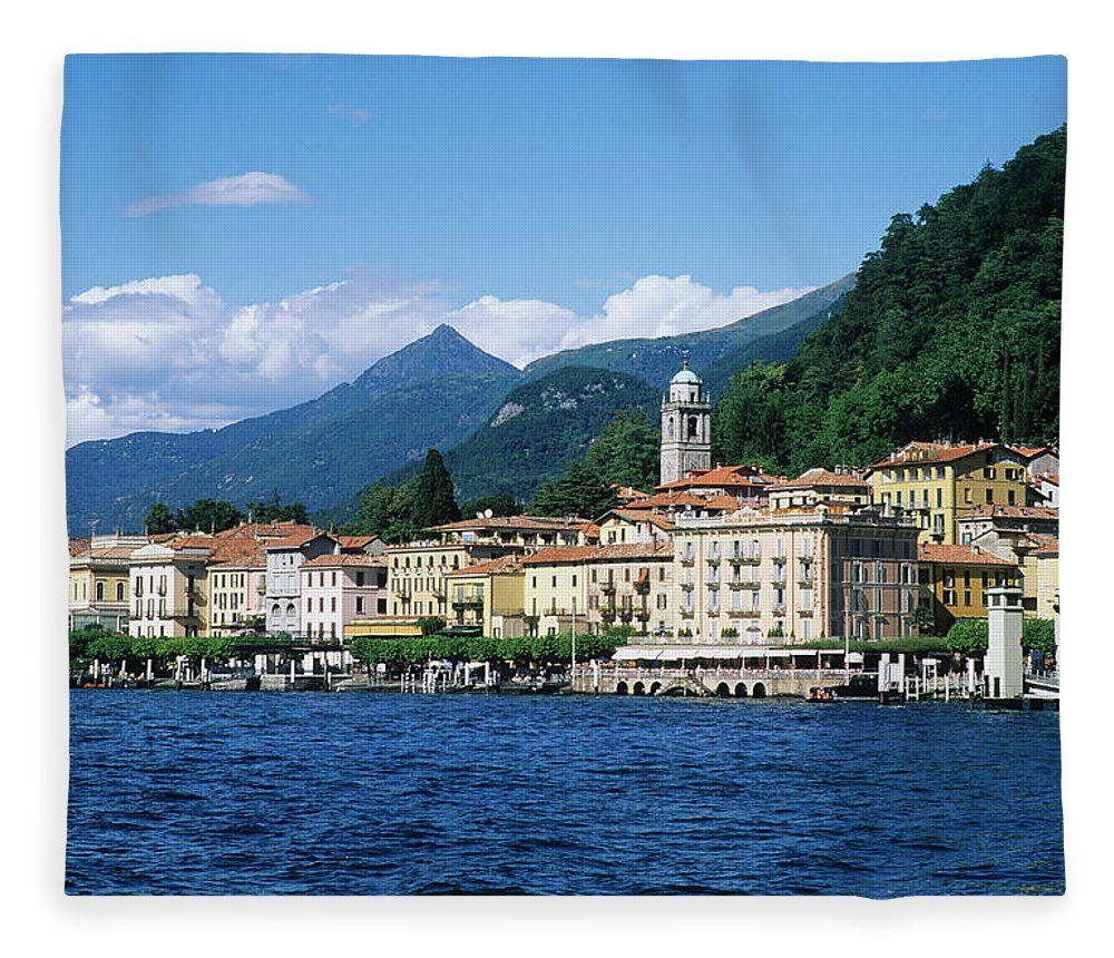 Scenics Fleece Blanket featuring the photograph Italy, Lombardy, Bellagio by Vincenzo Lombardo
