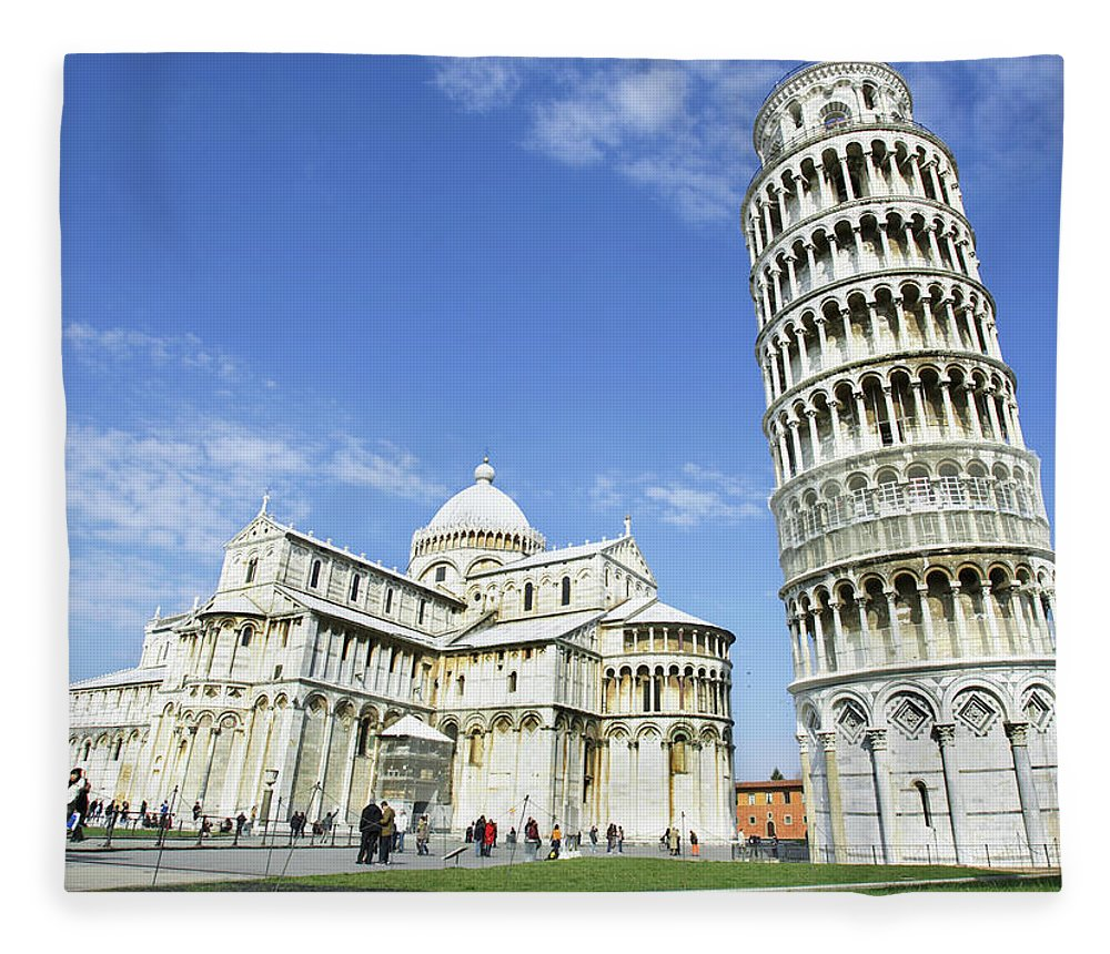 City Fleece Blanket featuring the photograph Italy, Tuscany, Leaning Tower Of Pisa by Alexander Hassenstein