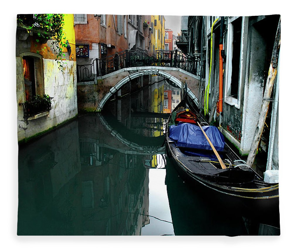 Old Town Fleece Blanket featuring the photograph Italy, Venice by Photostock-israel