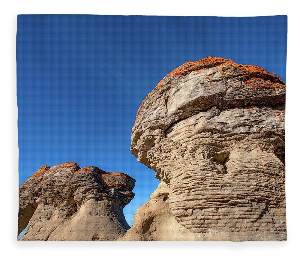 Jerusalem Rocks Fleece Blanket featuring the photograph Jerusalem Geology by Todd Klassy