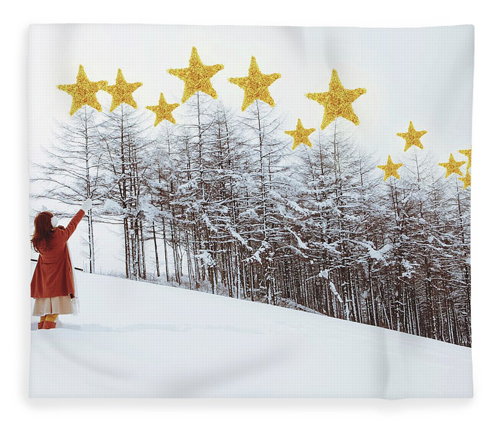 Hand Raised Fleece Blanket featuring the photograph Jesus, Lord, At Thy Birth by Copyright Alpsrabbit* All Rights Reserved