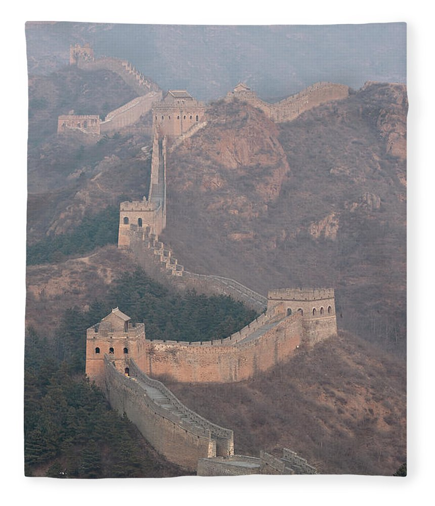 Chinese Culture Fleece Blanket featuring the photograph Jinshanling Section, Great Wall Of China by Thomas Kokta