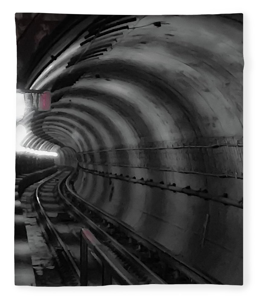Metro Fleece Blanket featuring the photograph Just Around The Bend by Lora J Wilson