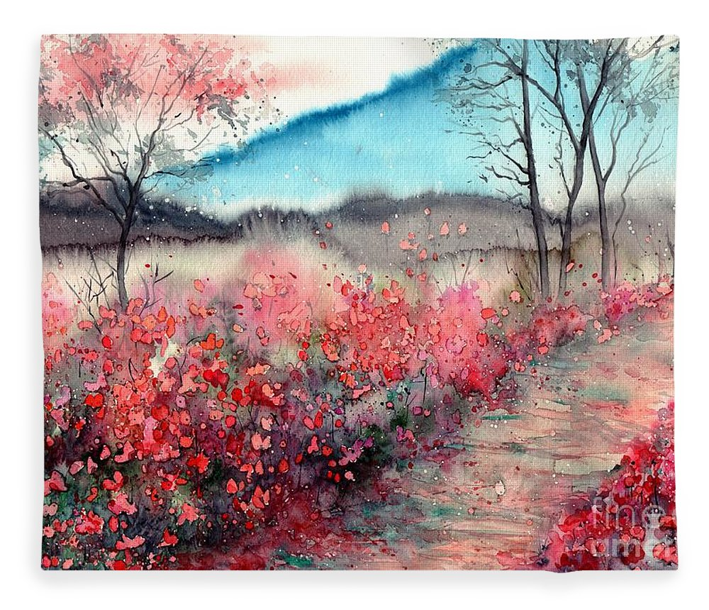 Dawn Fleece Blanket featuring the painting Just Before Dawn by Suzann Sines