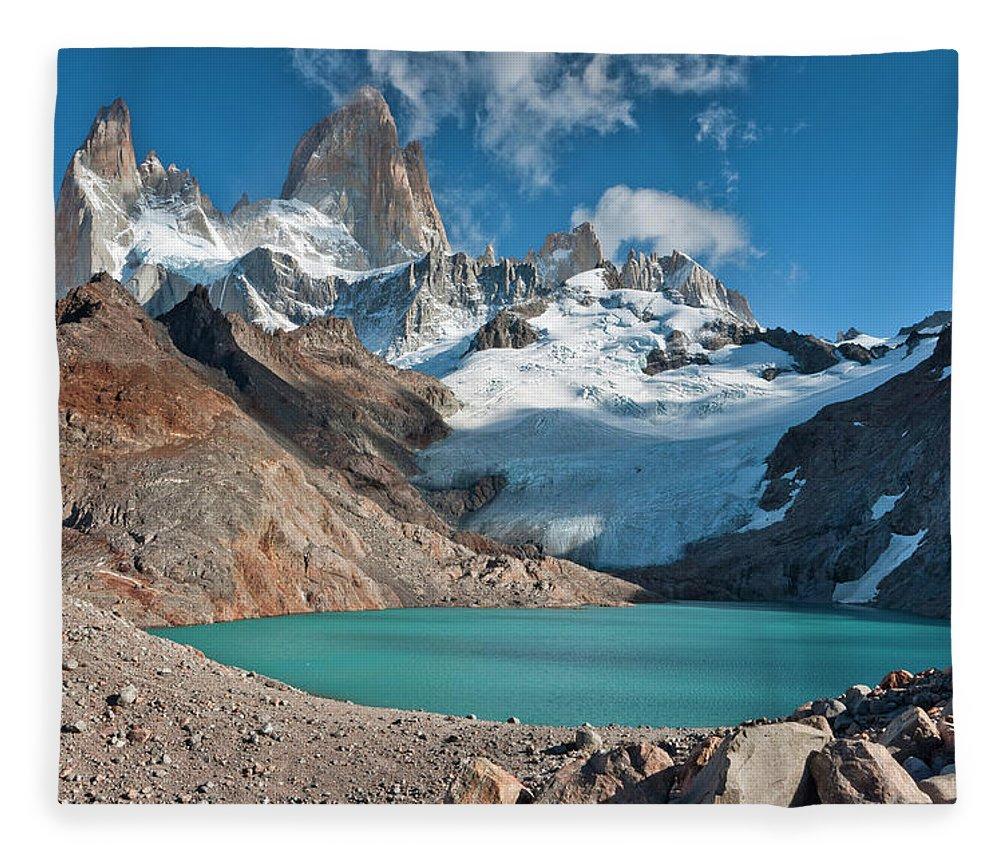 Scenics Fleece Blanket featuring the photograph Laguna De Los Tres, El Chalten by Avinash Achar