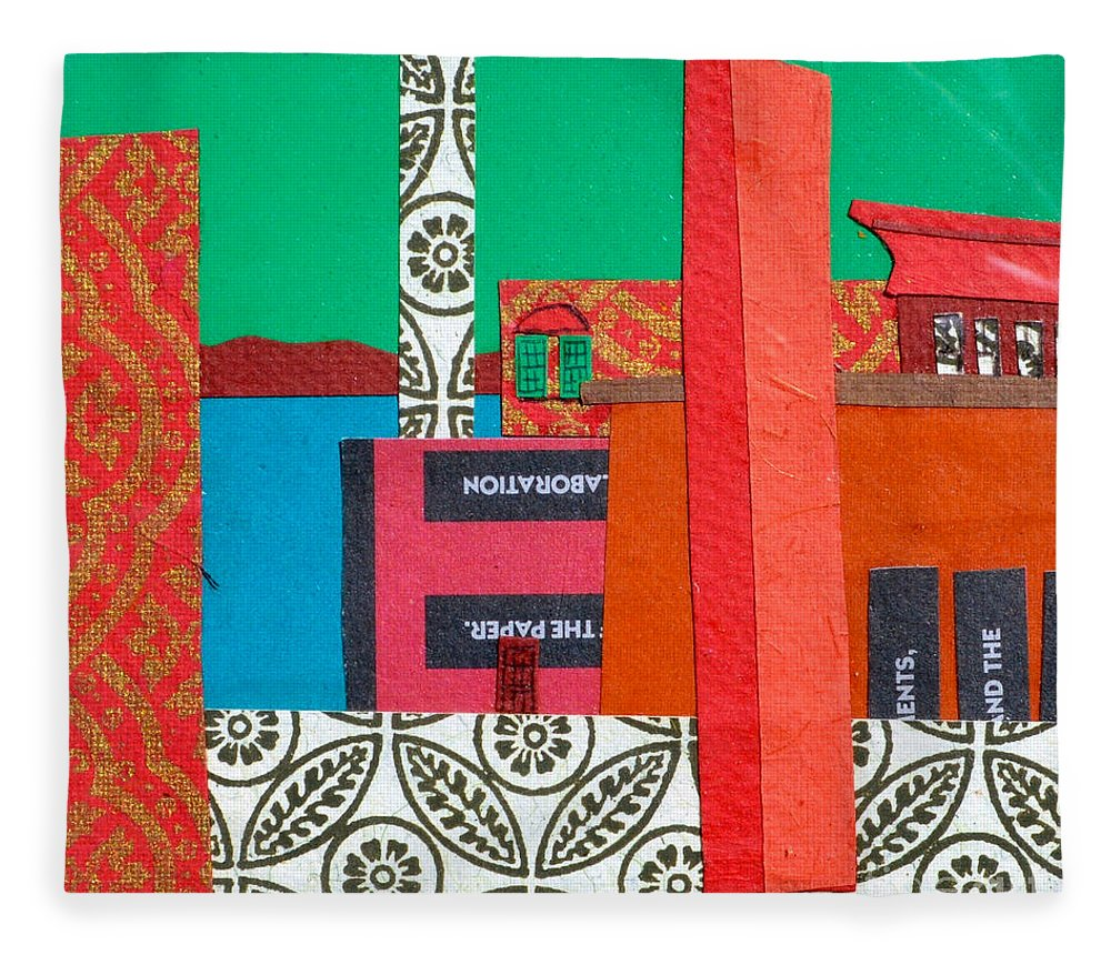Burlington Fleece Blanket featuring the mixed media Lake Champlain by Debra Bretton Robinson