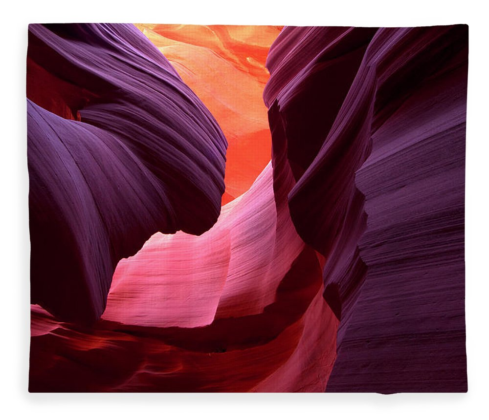 Scenics Fleece Blanket featuring the photograph Landscape Image Of Lower Antelope by Justinreznick