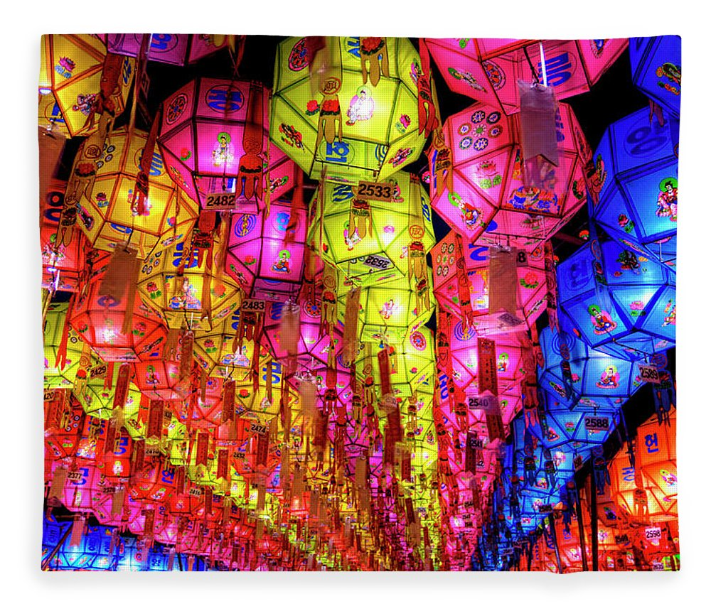 Tranquility Fleece Blanket featuring the photograph Lanterns Hanging by Jason Teale Photography Www.jasonteale.com
