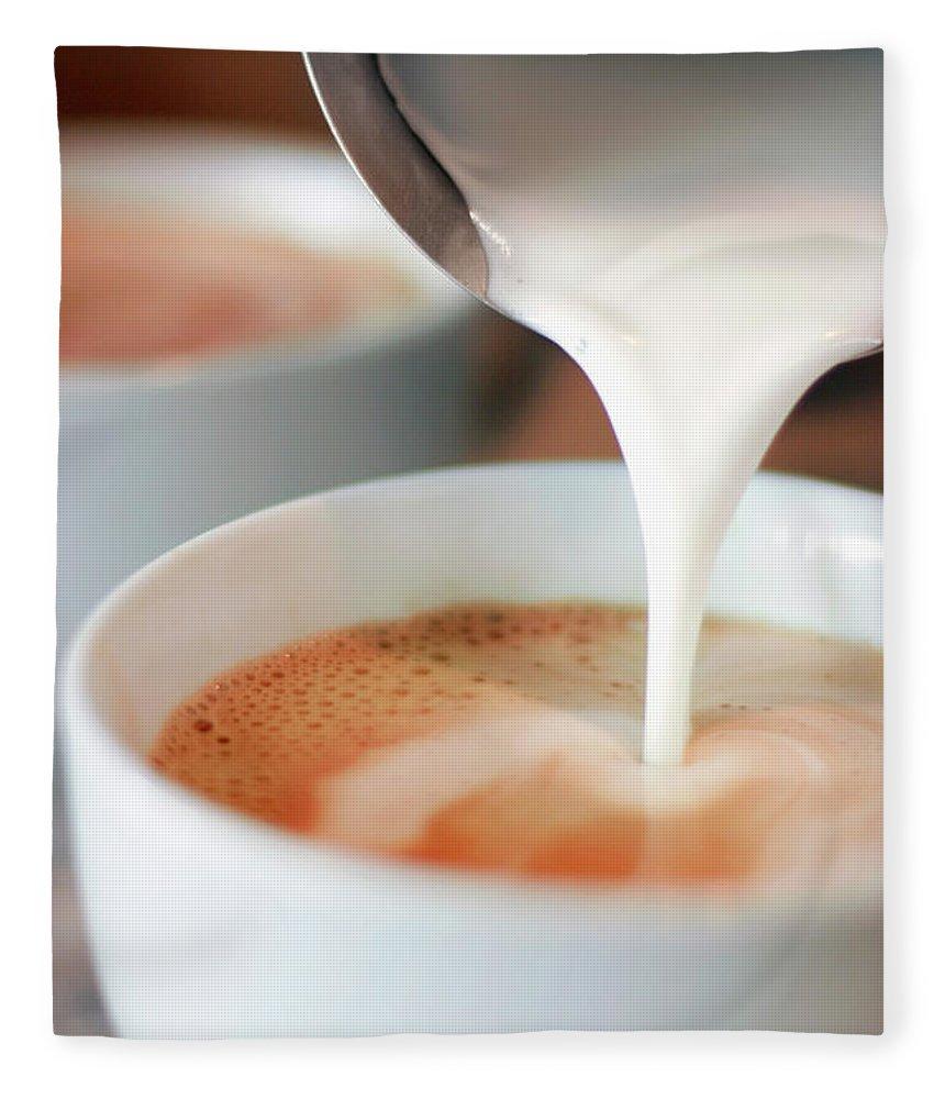Breakfast Fleece Blanket featuring the photograph Latte by Sf foodphoto