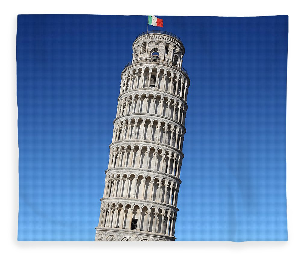 Leaning Fleece Blanket featuring the photograph Leaning Tower Of Pisa by Narvikk