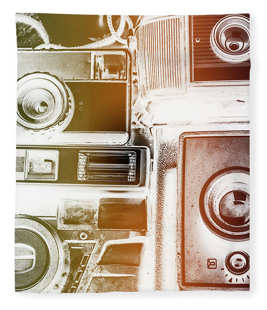 Vintage Fleece Blanket featuring the photograph Lomo Light Leaks by Jorgo Photography - Wall Art Gallery