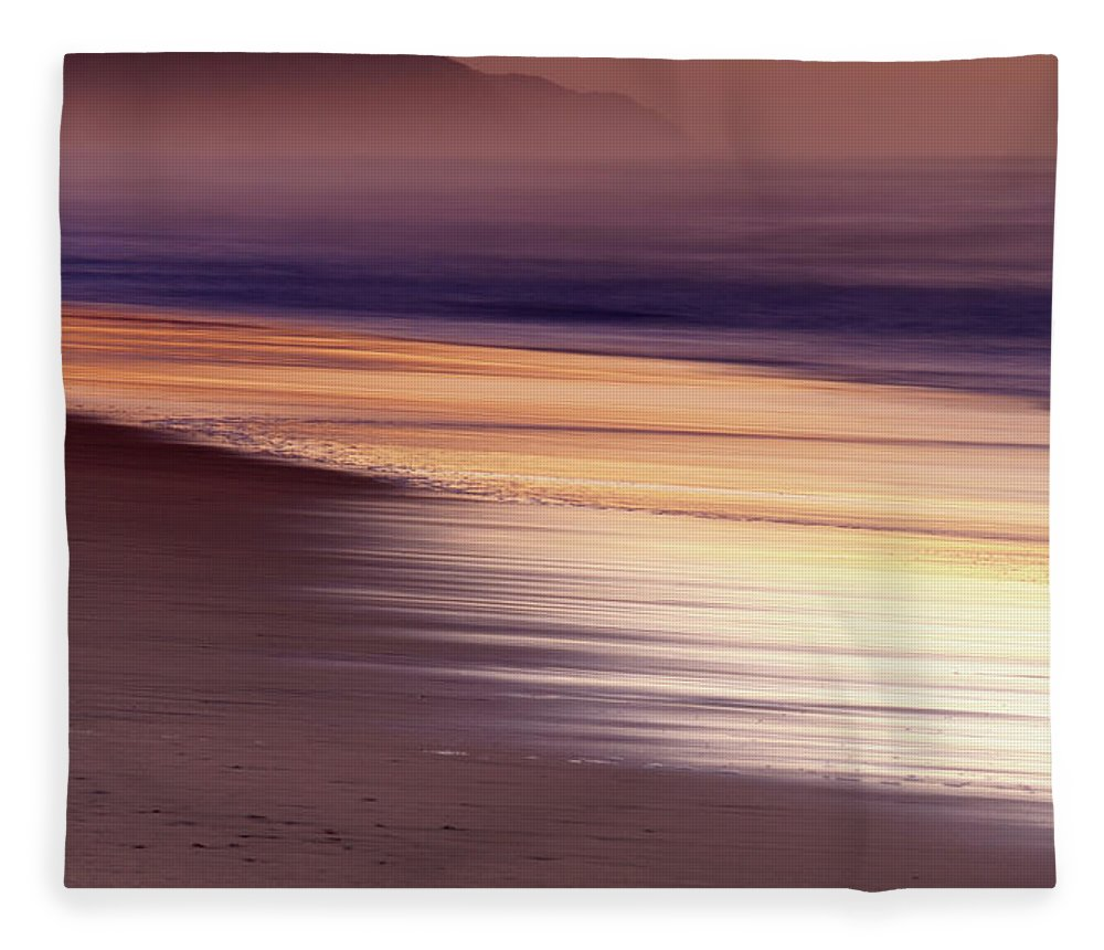 Tranquility Fleece Blanket featuring the photograph Long Exposure Of Water At Dawn With by Emil Von Maltitz