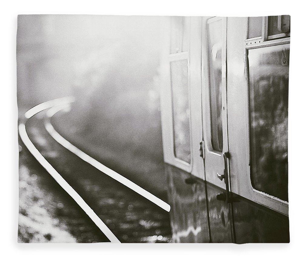 Train Fleece Blanket featuring the photograph Long Train Running by James Homer