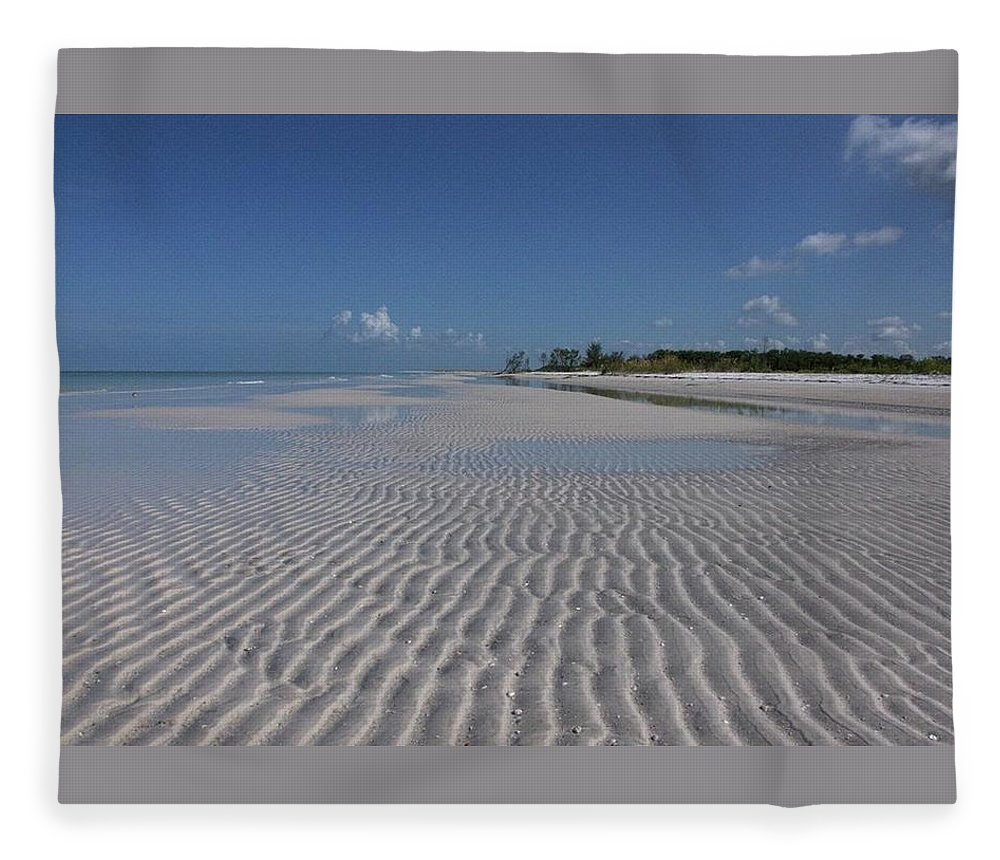 Beach Fleece Blanket featuring the photograph Lowtide Ripples by Eagle Finegan