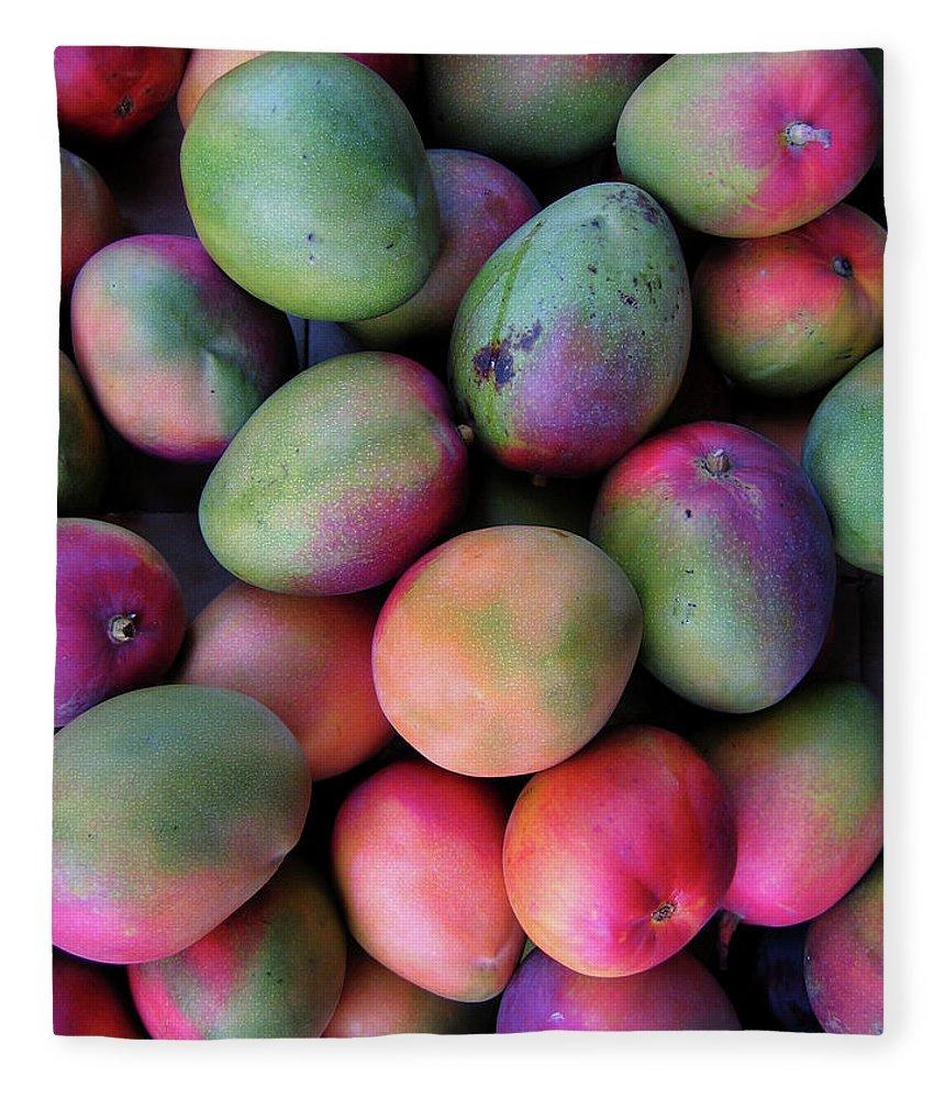 Mango Fruit Fleece Blanket featuring the photograph Mango Mania by Digi guru