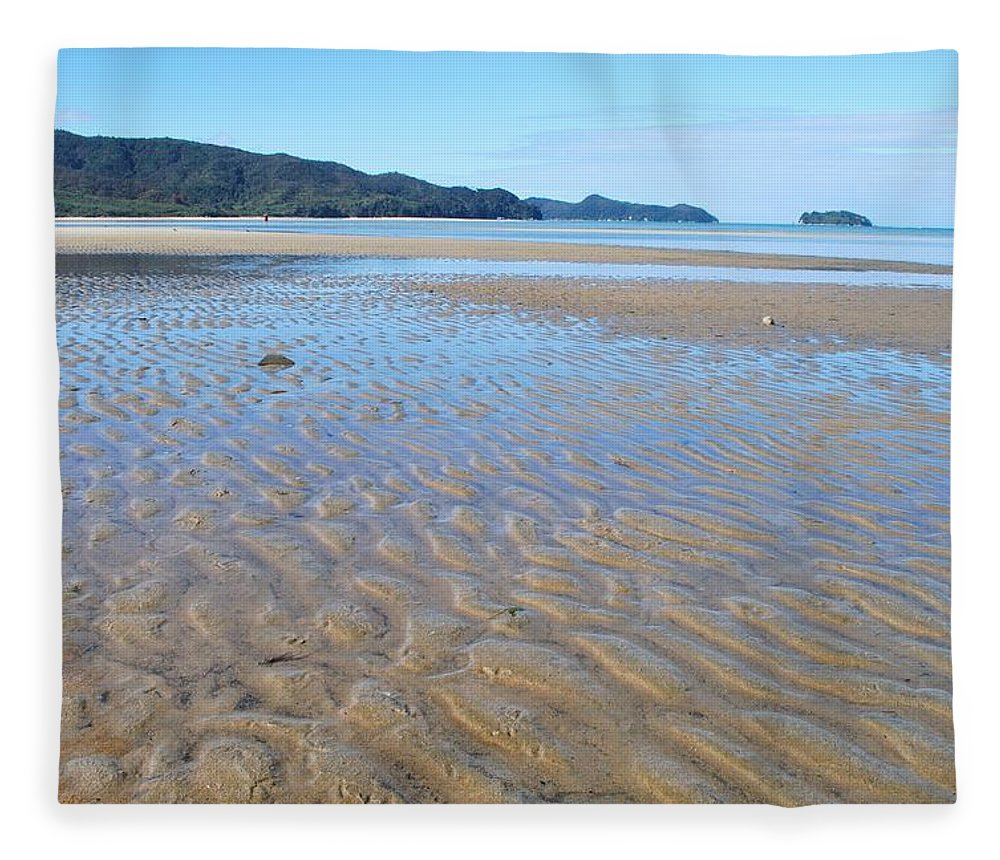 Scenics Fleece Blanket featuring the photograph Marahau Beach, The Abel Tasman National by Lazingbee