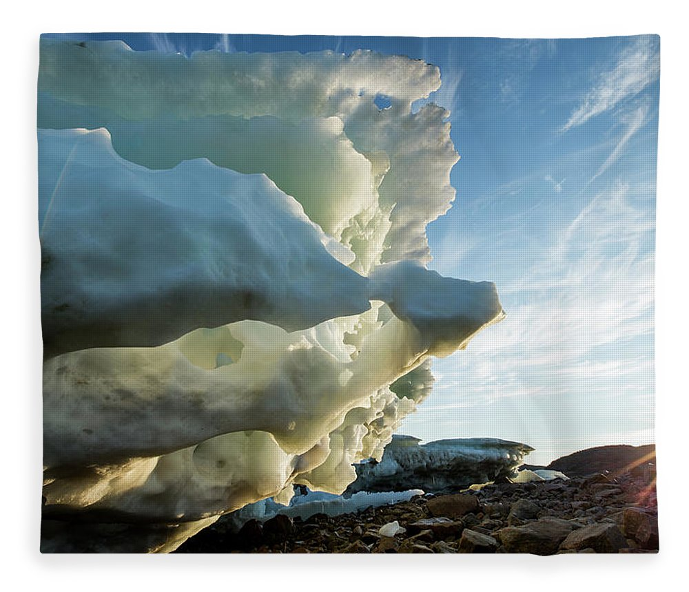 Scenics Fleece Blanket featuring the photograph Melting Iceberg, Nunavut Territory by Paul Souders