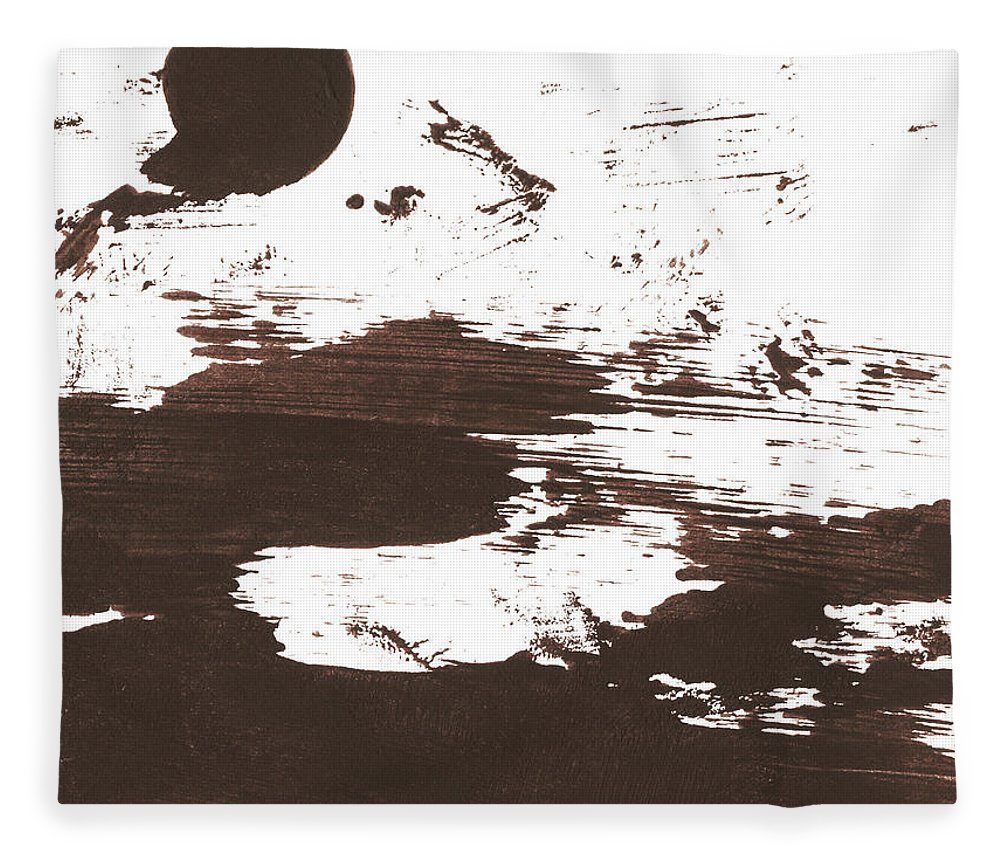 Stained Fleece Blanket featuring the photograph Messy Tan Brown Paint Mess by Kevinruss