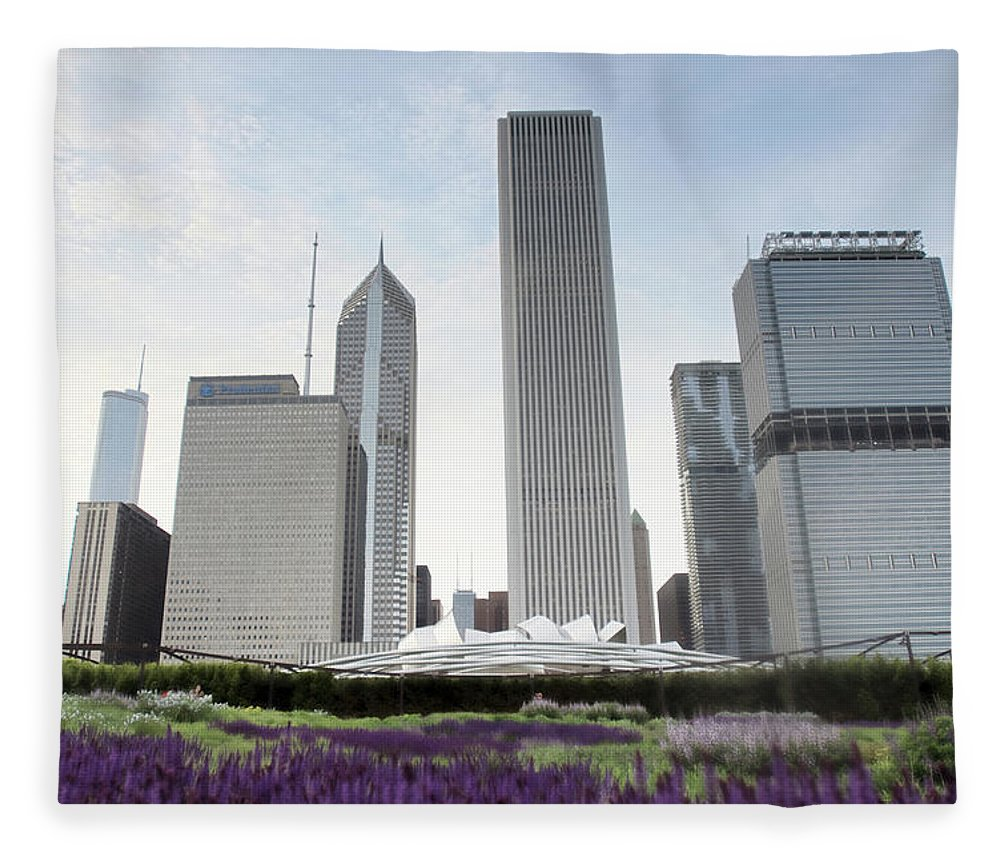 Millennium Park Fleece Blanket featuring the photograph Millennium Park by By Ken Ilio