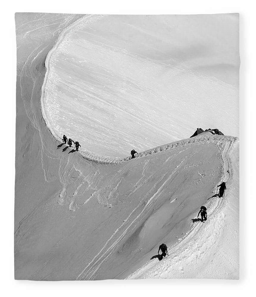 Scenics Fleece Blanket featuring the photograph Mont Blanc by Yanis Ourabah