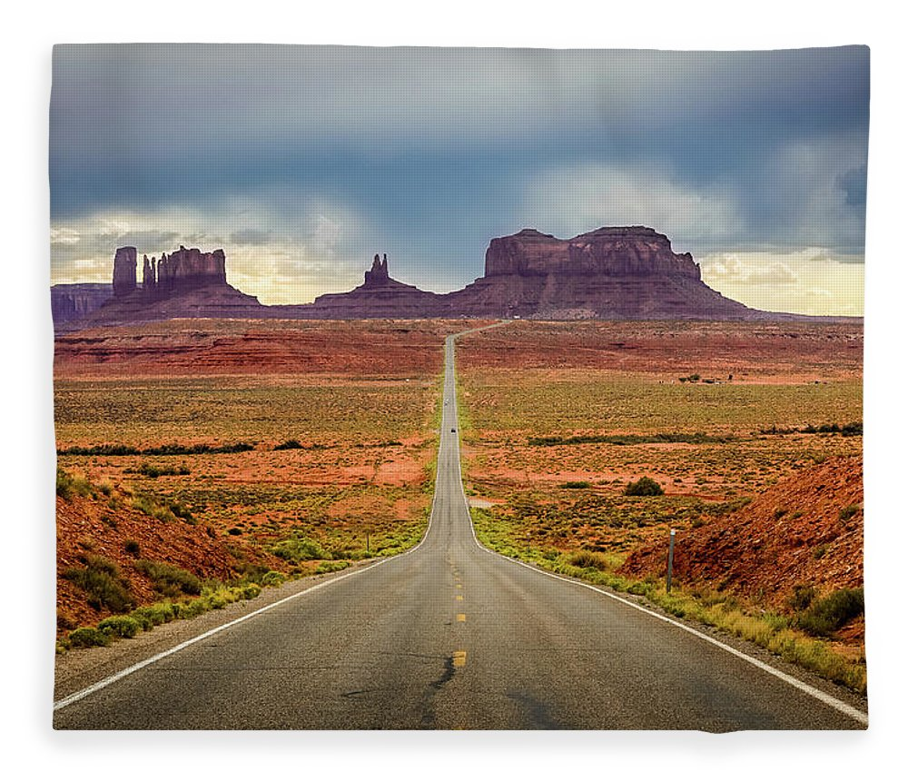 Scenics Fleece Blanket featuring the photograph Monument Valley by Posnov