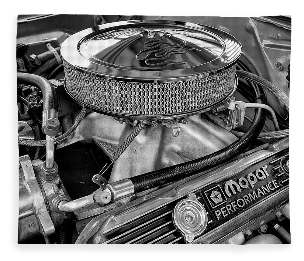 Mopar Fleece Blanket featuring the photograph Mopar - #1 by Stephen Stookey