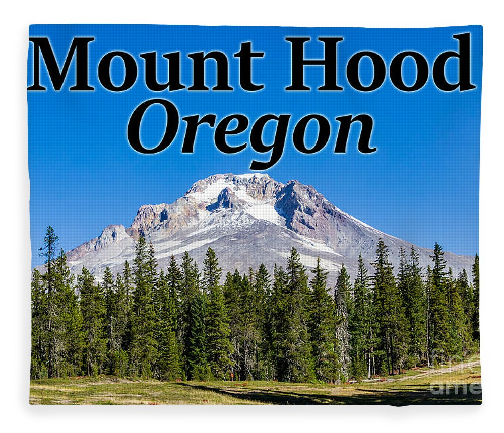 Mount Hood Fleece Blanket featuring the photograph Mount Hood Oregon In Fall by G Matthew Laughton