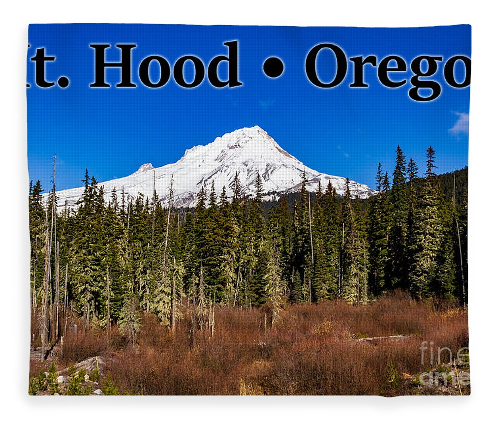 Mount Hood Fleece Blanket featuring the photograph Mount Hood Oregon In Winter 01 by G Matthew Laughton