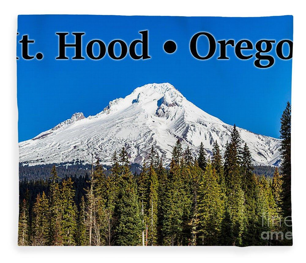 Mount Hood Fleece Blanket featuring the photograph Mount Hood Oregon In Winter 02 by G Matthew Laughton