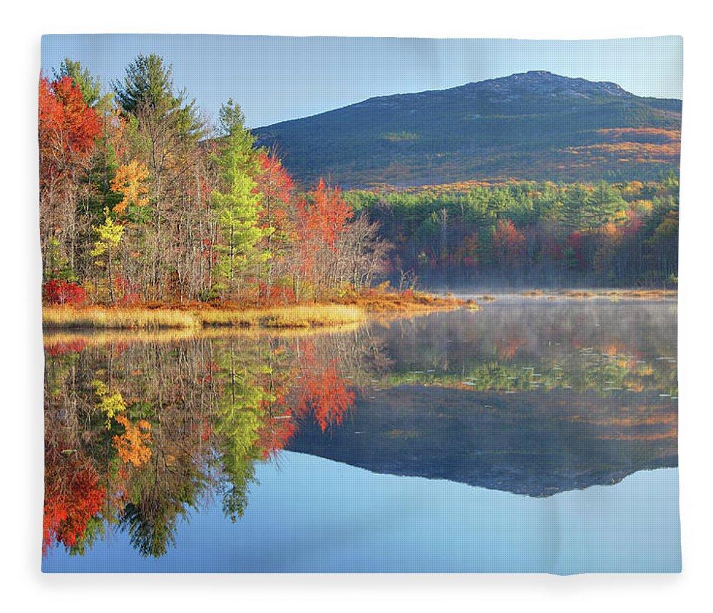 Scenics Fleece Blanket featuring the photograph Mount Monadnock In Autumn by Denistangneyjr