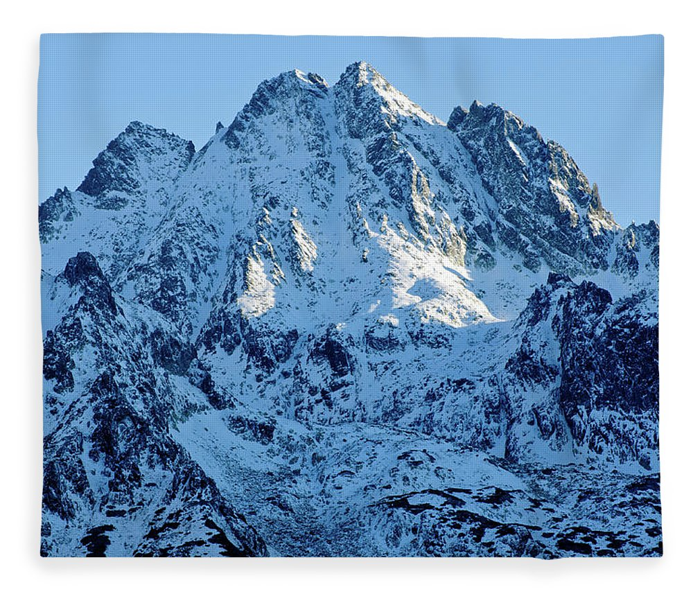 Scenics Fleece Blanket featuring the photograph Mountain by Yorkfoto